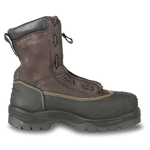 Oliver 65 Series 8'' Leather Chemical-Resistant Steel Toe Lace-In Zipper Men's Metatarsal Boots, Brown (65392) by Honeywell (Image #5)