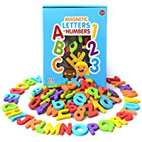 Curious Columbus Magnetic Letters and Numbers. 115 Colorful ABC, 123 Foam Alphabet Magnets Educational Toy for Preschool Pre-K Spelling, Counting