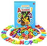 Curious Columbus Magnetic Letters Numbers. Set of 115 Premium Quality ABC, 123 Colorful Foam Alphabet Magnets Best Educational Toy Preschool Learning, Spelling, Counting