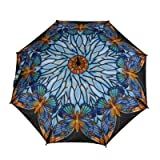 "Tiffany Butterfly Umbrella 46"" Arc, 100% Pongee Cover Galleria"