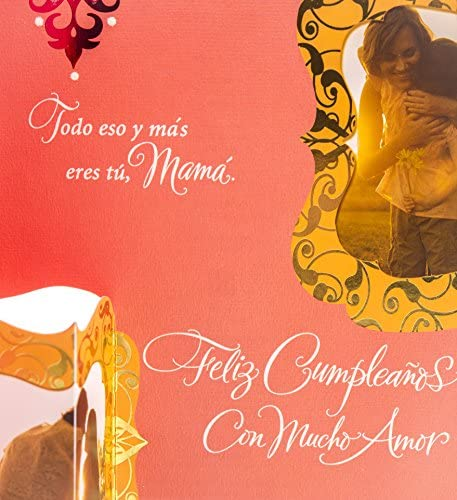 Hallmark Vida Spanish Birthday Greeting Card for Mom (Mama En Tu Cumpleanos)