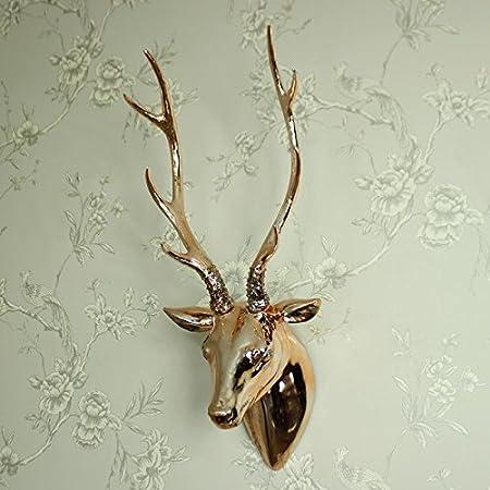 Copper stag head wall decoration