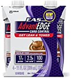 EAS AdvantEDGE Carb Control Ready To Drink Carton, Chocolate Fudge, 11-Fluid Ounce (Pack of 24)