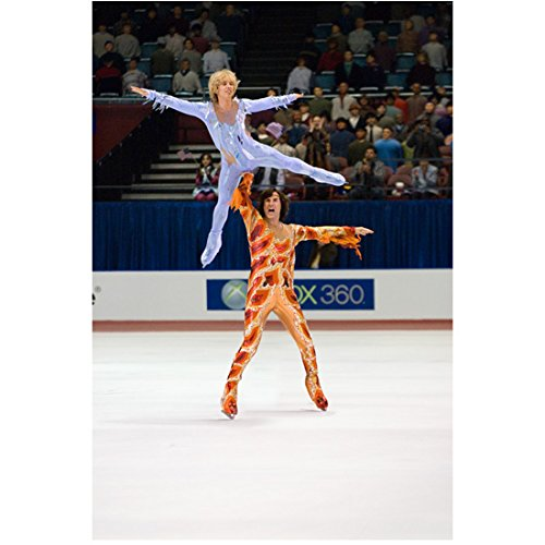 [Blades of Glory Jon Heder as Jimmy MacElroy in ice blue costume and Will Ferrell as Chazz Michael Michaels in fire-toned costume 8 x 10 Inch Photo] (Will Ferrell Semi Pro Costume)