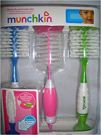 Amazon.com : Munchkin Bottle Brush Compbo Set- 2 Deluxe and 1 ...