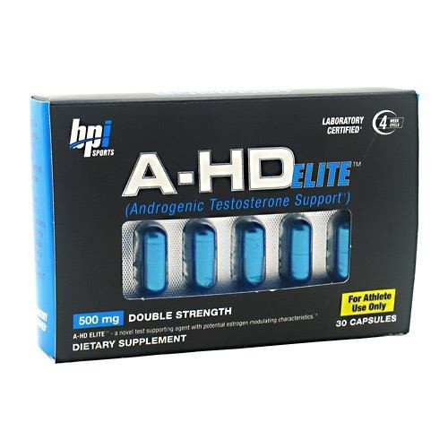 BPI A-HD Elite Nutrition Capsules, 500mg, 30 Count by BPI