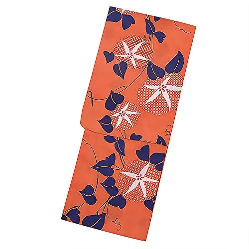 包帯やがてグリット[ KIMONOMACHI ] オリジナル 浴衣単品「オレンジ 朝顔」
