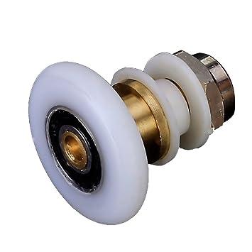 8x Dusche Tür Rollen Läufer Räder 23//25mm Durchmesser Ersatz Rad Zubehör