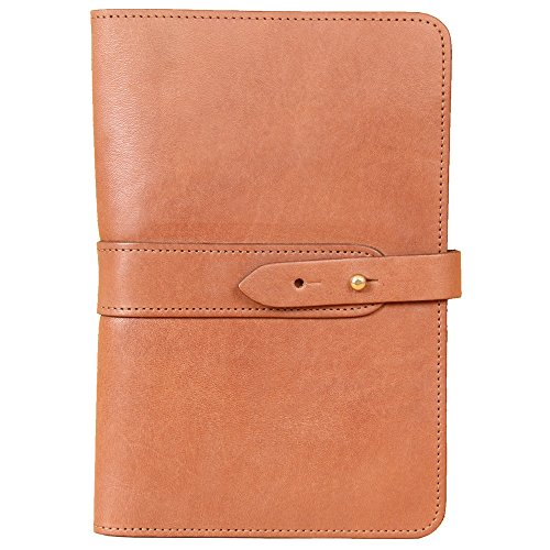 Travel Leather Portfolio Folio Notebook Business Folder Small Saddle Tan Full-Grain USA Made No. 20 by Col. Littleton