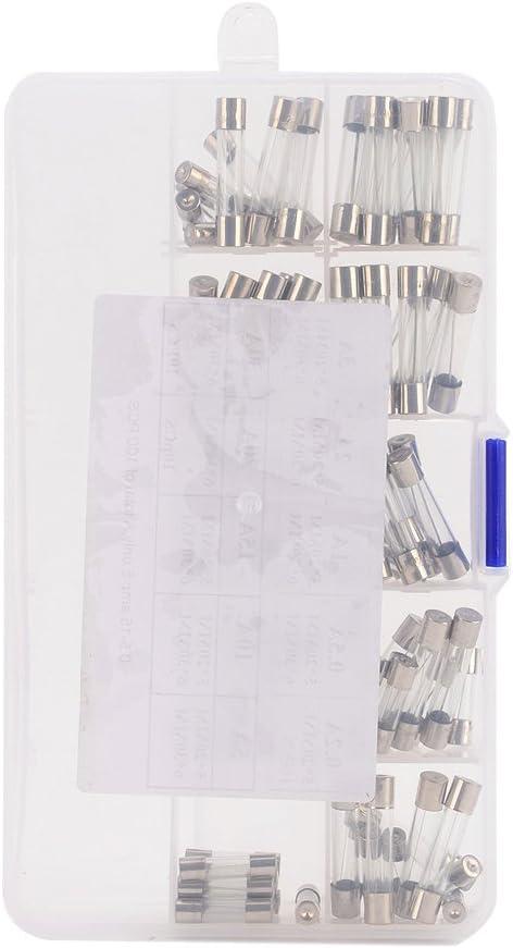 kkmoon Ensemble de 100/morceaux Fast Blast Auto fusible de verre Tuyau Assorted Kit 55/morceaux 45/pi/èces 5/x 20/mm 6/* 30/mm Amp/ère 0,2/A 0,5/A 1/A 2/A 3/A 5/A 10/A 15/&nbs