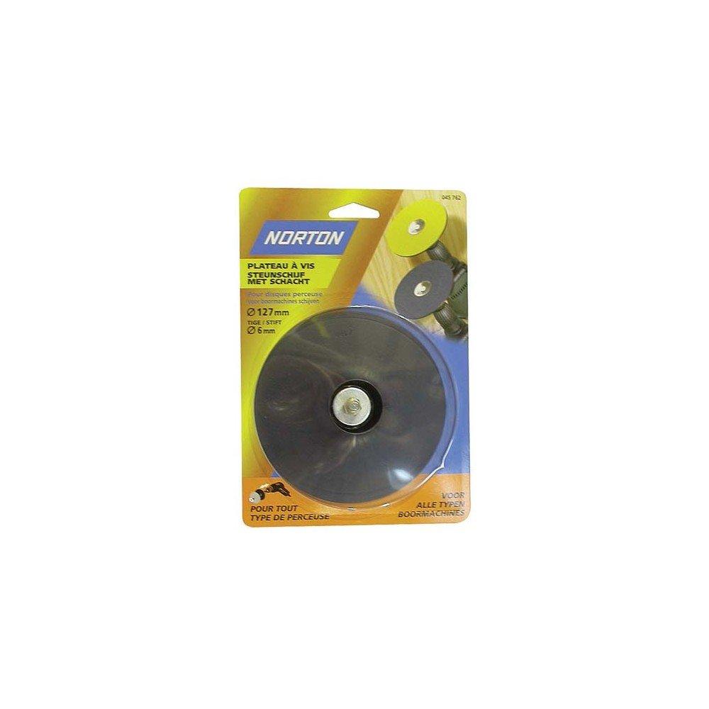 Norton Plateau perceuses pour Disques fibre Et Papier Tige 6 mm 125 x 12 mm 7660717593