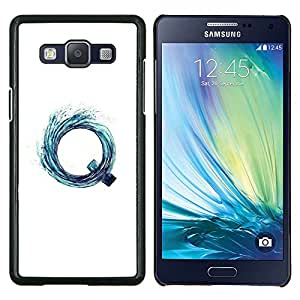"""Be-Star Único Patrón Plástico Duro Fundas Cover Cubre Hard Case Cover Para Samsung Galaxy A5 / SM-A500 ( Letra Q Vortex aguamarina agua Surf Blanca"""" )"""