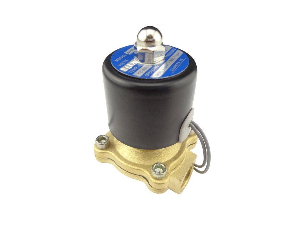 for Air Water Gas Diesel//V/álvula electromagn/ética el/éctrica de Aire Agua Gas Diesel MISOL 1pcs of New DC 12V Electric Solenoid Valve G3//4 BSP