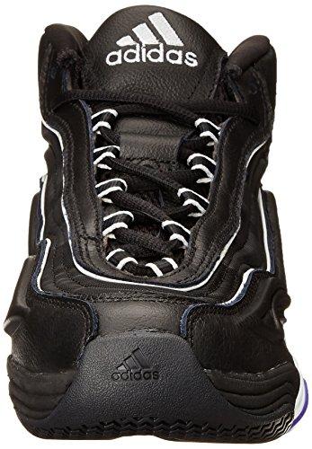 Adidas Performance Mens Crazy Basketball 2 Chaussure Noir / Blanc / Violet