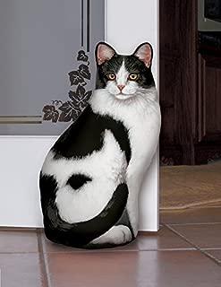 product image for Black & White Cat Door Stop, Decorative Door Stopper, Interior, Unique Doorstop