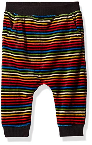 Gymboree Baby Casual Knit Velour Pant, Rainbow Rib, 6-12 Mo