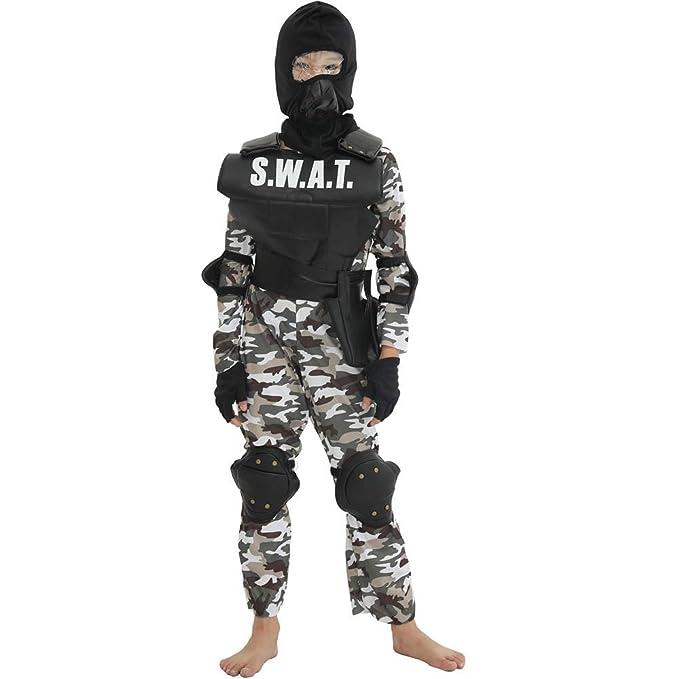 Amazon.com: SWAT Disfraz de uniforme militar para niños ...