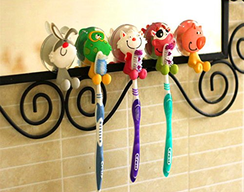 Antibacterial Toothbrush Suction Cup Cover Holder with Suction Cup