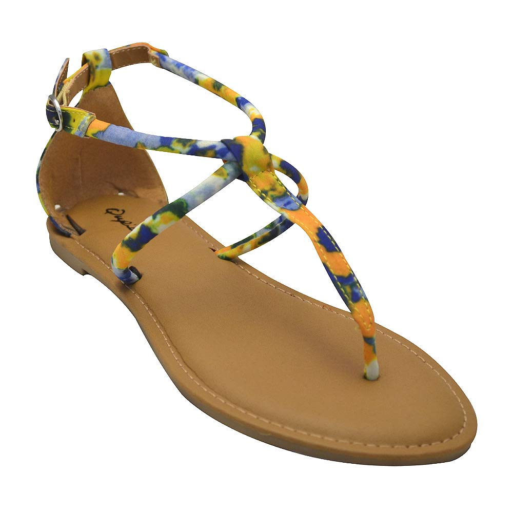 790ffd4f7b13 Qupid Athena-1304 Womens Tassel Wrapped Gladiator Sandals  Amazon.co.uk   Shoes   Bags