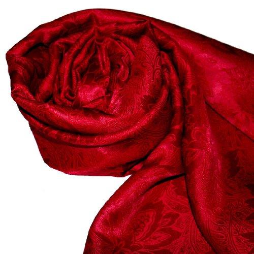 LORENZO de cANA été echarpe seidenschal 55 x 190 cm-jacquard damassé rouge uni 89059 soie rouge