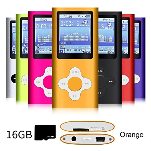 G.G.Martinsen Orange&White Versatile MP3/MP4 Player with a Micro SD Card