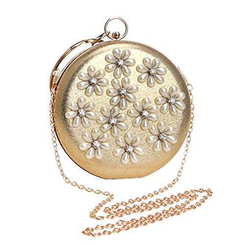 Banquet De Silver Yy1 Embrague Lady Ladybag Hombro Gold Bolso color Pearl wx5qB46UY