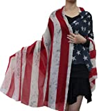 Retro Blur Greyish Splash Style July 4th Patriotic Us American Flag Large Scarf Beige