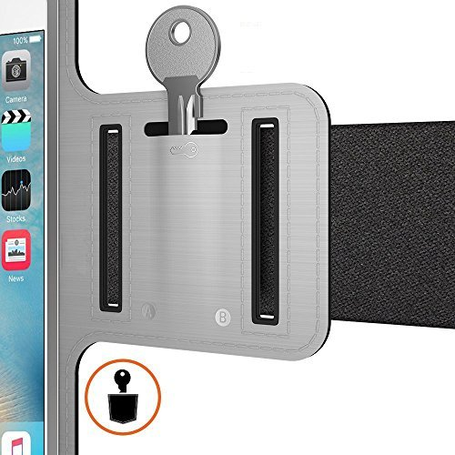 Universal Sports Armband for 5.7 Inch Screen Apple iPhone 6/6s iPhone 6/6s Plus Samsung Galaxy S7/S6/S5/S4 Sweatproof Running ArmBelt With Small Holder & Pouch for Keys Card