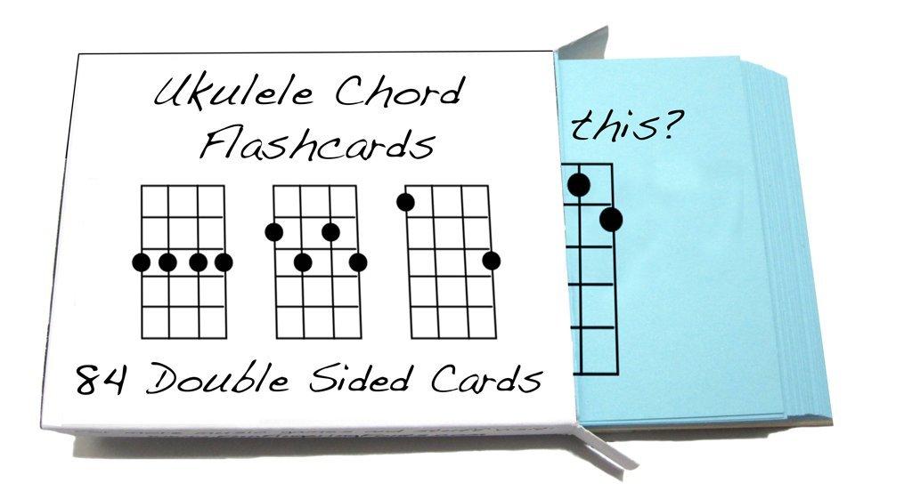Tarjetas didácticas con acordes para ukelele, 84tarjetas (para ukulele soprano, concierto y tenor) whirlwindpress.ca 10805106