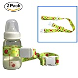 Universal Baby Bottle Safety Strap Belt , HULISEN Baby Sippy Cup Holder Stop Drop for Highchair...