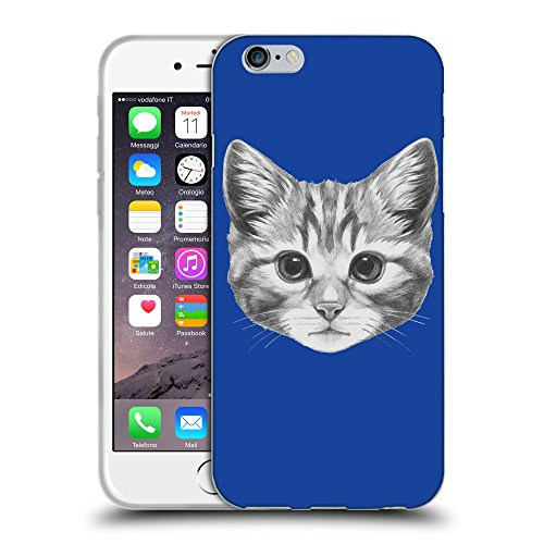 GoGoMobile Coque de Protection TPU Silicone Case pour // Q05140613 Dessin chaton Bleu // Apple iPhone 7