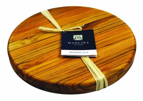 (Madeira Cutting Board and Chop Block, Teak Edge-Grain, 14