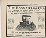 1905 Boss Steam Car Reading PA Auto Ad Timken Roller Bearing Canton OH