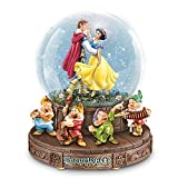 Disney Snow White Musical Glitter Globe with the Seven Dwarfs on a Rotating Base by The Bradford Exchange