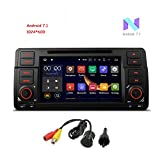 MCWAUTO For BMW E46/320/325 7'' Android 7.1 Car Stereo Multi-Touch Screen Radio CD DVD Player GPS 1080P Video Screen Mirroring OBD2 Wifi CANbus Rear Camera