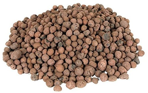 Hydrofarm Grow it Hydroponic Clay Pebbles Grow Media Expanded Porous Rocks 4 Liter Bag