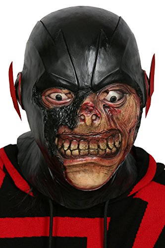 xcoser Black Flash Mask Fullhead Helmet for Adult Halloween Cosplay Latex
