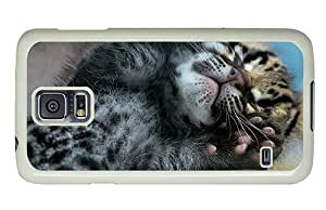 Hipster Samsung Galaxy S5 Case underwater cover ocelot cub PC White for Samsung S5