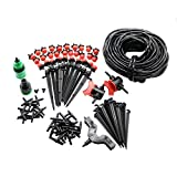 Garden Irrigation Set 108 Pcs 20m 4 / 7mm Hose DIY Gardening Sprinkler Head Hose Bracket Fast Interface Hole Puncher Plug Tee