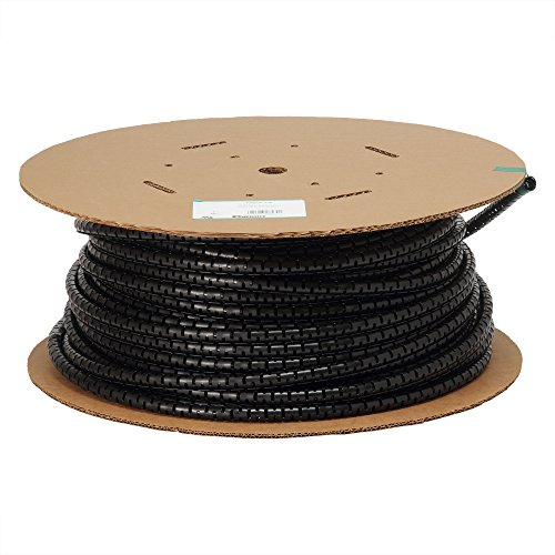 Panduit PW75F-C20 Split Harness Wrap, Black, 100-Feet by Panduit
