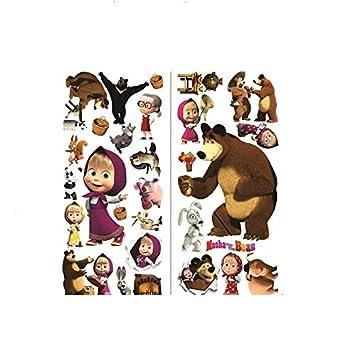 eb20bc24ae99b Amazon.com : Masha And The Bear Wall Stickers Wall Art Decals Kids ...