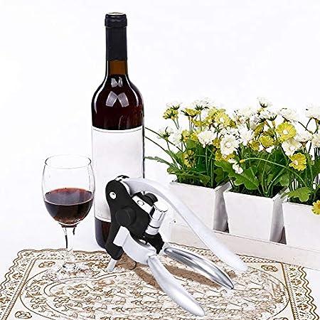 Ohomr Juego de abridor de botellas de vino y conejo, abrebotellas con cortador para hoja y tapón para vino en espiral, 5 unidades