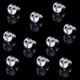 Tinksky 10pcs 25mm Crystal Cabinet Knobs with