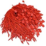 7'' Red Hang Tag String Nylon String Snap Lock Pin Loop Fastener Hook Ties Easy and Fast to Attach 1000 Pieces