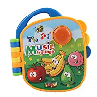 Pasaca Toys Kids Learning Pad Music Fruitage with 3 Learning Game, Color Book (Blue)