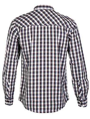 Tokyo Laundry-Camisa de manga larga para hombre, diseño de botones carareaux Marron ocre