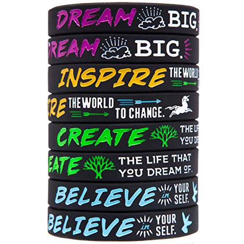 Power of Faith for Men Women Sports Birthday Party Cheer Gifts Supplies Favors Sainstone Baseball Silicone Motivational Wristbands Rubber Inspirational Quote Bracelets