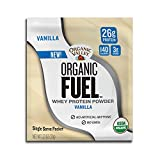 Organic Valley, Organic Fuel Whey Protein Powder Single-Serve Packets, Vanilla, 1.23 Ounce, Pack of 12