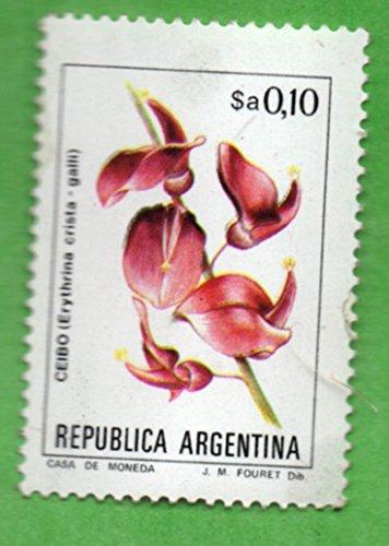 Mint Argentina Postage Stamp (1983) 10 Native Flower - Scott # 1430