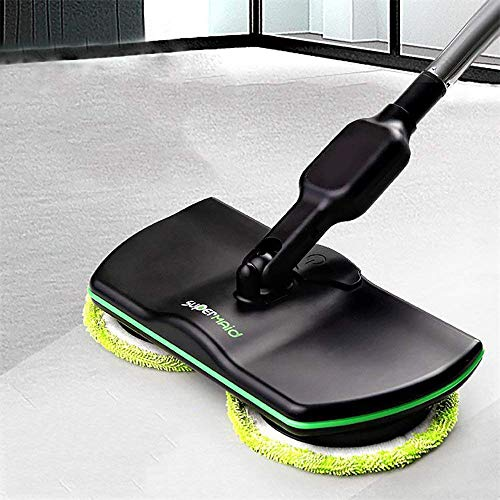 ADAHX Electric Spinning Mop,Cordless 360 Degree Mopping Machine Rechargeable, Wireless Electric Rotary Cleaninghand-held, Powered Floor Cleaner Scrubber Polisher Mop,Black by ADAHX (Image #2)